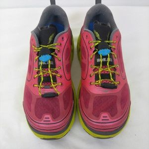 Hoka One One Conquest Trail Running Shoes Pink 6